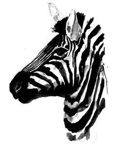 zebra painting by Lauren Carlson Walcott
