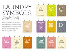 laundry symbols (I've been needing one of these cheat sheets for YEARS)
