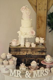 Hannah & Matt's wedding cake - Redhouse Barn   by Cotton and Crumbs