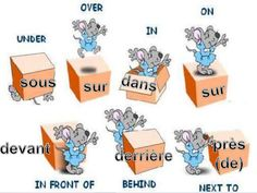 Position prepositions French - Yahoo Image Search results