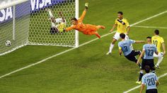 World Cup 2014 best goals- James Rodrigues scores on Uruguay.