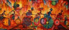 Timothy Orikri Original Art, Hand-painted Ceramics, Mixed Media Art -