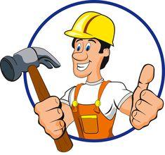 Funny cartoon builders vector illustration 10