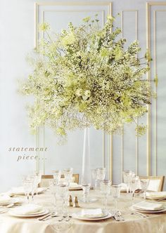 Baby's breath, mini daises, and queen anne's lace make a simple, dimensional, and elegant arrangement!