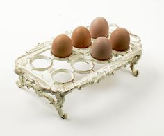 """Peggy May Cast Iron """"Shabby Chic"""" Egg holder : Black Country Metalworks Ltd Vintage Farmhouse, Farmhouse Decor, Cast Iron, It Cast, Shabby Chic, Egg Basket, Baskets, Egg Holder, Country Charm"""