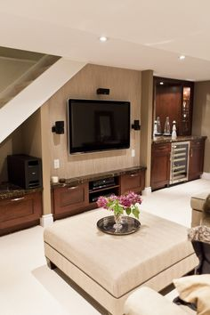 Basement Small Basement Renovations Design, Pictures, Remodel, Decor and Ideas - page 19 More - Decoration Organization Style At Home, Old Basement, Basement Ideas, Basement Decorating, Basement Stairs, Modern Basement, Decorating Ideas, Basement Colors, Basement Flooring