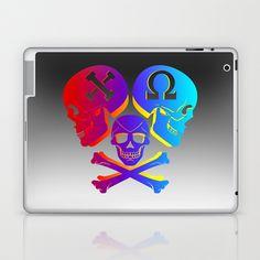Chi Omega, Skull set two Laptop & iPad Skin by seb mcnulty - $25.00