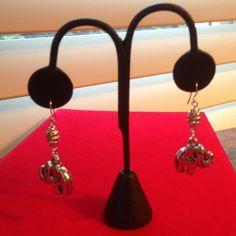 Selling this Silver Tone elephant Earrings  pierced in my Poshmark closet! My username is: karenpaulovich. #shopmycloset #poshmark #fashion #shopping #style #forsale #Jewelry