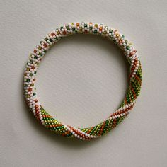 Ravelry: Little Dots and Spirals Bead Crochet Bangle pattern by Linda Lehman