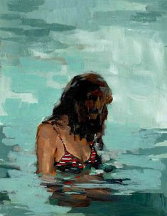 """CLARE ELSAESSER, (do not know, if it is really is """"yeah"""" it is  a little bit.... a. silent kind of swimming, what water can do with you also, it makes you introvert. ( mooi ingetogen, bijna )"""