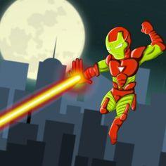 Mini Iron Man creado de forma análoga vectorizado en illustrator y retocado en Photoshop
