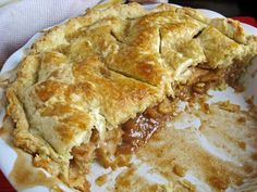 a hint of honey: Deep Dish Apple Pie with Sweet All-Butter Pie Crust