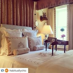#Repost @habituallychic with @repostapp.  ・・・  The blog is back up finally! Now you can see the beautiful bedroom @cathykincaidinteriors designed for the @kbshowhouse. What a day! I need a drink! #kipsbayshowhouse15