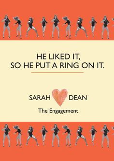 Engagement Invitation with Dancing Beyonces  by lozzieheartsaparty, $25.00