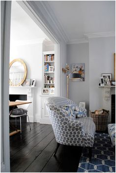 Blackened - Farrow & Ball Layout with small couch in doorway