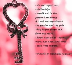 No regrets quote via Miracle on Kentucky Avenue at www.facebook.com/pages/Miracle-on-Kentucky-Avenue/294750553970314