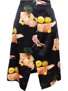 Shop the latest women's designer Skirts at Farfetch now. Flower Skirt, Black Knees, Layered Skirt, Silk Skirt, Black Silk, Acne Studios, Designing Women, Printed Silk, Skirts