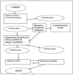 Schema procesului de selecţie a personalului
