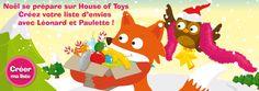 Créez votre liste d'envies sur le site House of Toys pour bien préparer Noël.