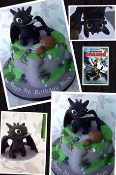 How to train your dragon, toothless birthday cake