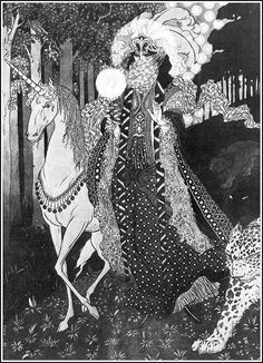 "Sidney Sime (Manchester, England (1867 – 22 May 1941). This is an illustration for Lord Dunsany's ""A Dreamer's Tale"""