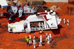 Prepping for Lego brick battle.