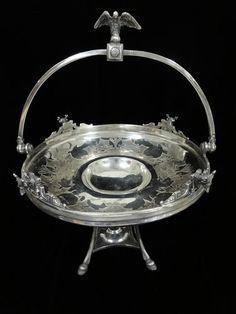Unique Antique Reed Barton Silver Plated Brides Basket | eBay