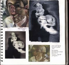 CAPI - Art Portfolio Ideas - Taking a Concept and Exploring its Artful Edges - a-level-fine-art-sketchbook A Level Art Final Piece, Sketchbook Inspiration, Sketchbook Ideas, A Level Art Sketchbook Layout, Art Sketches, Art Drawings, High School Art Projects, Ap Studio Art, Artist Sketchbook