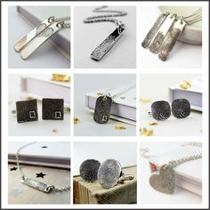 """Our """"Inked"""" collection means you don't need an impression kit for ANY of these designs, just a pencil, paper and a roll of sellotape! It really couldn't be easier! Click here to find out more and to order! http://www.notonthehighstreet.com/fingerprintjewellery"""