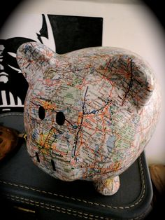 Map Pig- perfect for the nursery