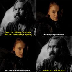"""I could keep you safe. If anyone tried to hurt you, I'd kill them,"" the Hound rasped."