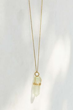 Wrapped Crystal Necklace - Urban Outfitters