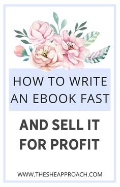 If you need help regarding writing eBooks this post is surely for you - even if you are beginner or not! I will show you how to write an eBook fast & how you can sell it for profit - Make sure that you will read the post if you want to know any other information! #makemoneyonline #digitalproducts #ebooksselling Get Real Instagram Followers, Get More Followers, Make Money Blogging, How To Make Money, How To Get, Free Instagram, Instagram Tips, Facebook Marketing, Affiliate Marketing