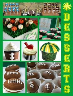 YES! sports themed desserts... perfect for a Super Bowl party!