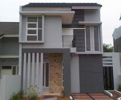 40 Examples of Minimalist Type 70 Two-storey House Designs That Look Luxurious and Modern Minimalist House Design, Minimalist Home Interior, Tiny House Design, House With Land, Double Storey House, Building A Container Home, Storey Homes, Staircase Design, House Colors