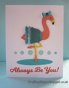 Flamingo Card on CrfatingQuine.blogspot.com Print and Cut Vellum. Use Copic Markers to colour vellum. #cardmaking #silhouettemake #silhouette #silhouettecameo #copics #vellum @SanqunettiDesign
