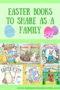 Babies to Bookworms provides a list of great Easter books to share as a family. From silly to serious, there is a little something for everyone! Easter Activities, Spring Activities, Family Activities, Toddler Activities, Baby Activites, Easter Holidays, Holidays With Kids, Easter Books, Easter Eggs