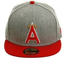 official photos 97427 d8e03 New Era 2Tone Los Angeles Angels 1986 Fitted Hat - Heather Gray, Red.  34.99