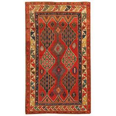 "Antique Kazak, 4'"" x 8'0"""