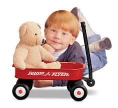A perfect gift for any nursery, this miniature little red wagon is a small version of Radio Flyer's classic red wagon complete with a steel body.
