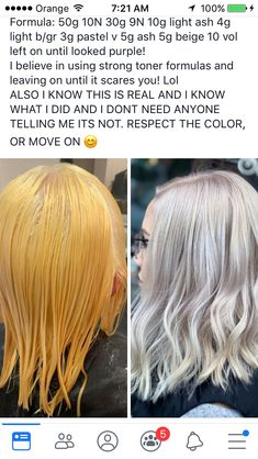 Pretty Hair Color, Hair Color And Cut, Aveda Hair Color, Hair Color Formulas, Hair Toner, Peinados Pin Up, Hair Color Techniques, Icy Blonde, Platinum Hair