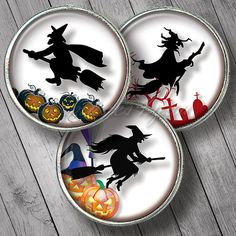 Witches 3D Halloween 2 printable download bottle cap by images4you, $3.95