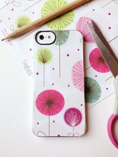 CELL PHONE CASE - Buy a clear case for your phone and create the perfect look you want for it with scrapbook paper!