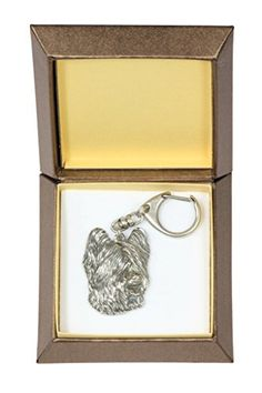 NEW, Briard, dog keyring, key holder, in casket, limited edition, ArtDog -- Check out this great product.