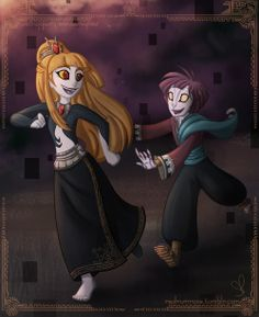 """""""When my father would visit the palace, I'd sneak away and play with the servant boy."""" I like to think Midna and Zant were friends when they were children. But as they grew older hey drifted farther and farther apart << head canon accepted"""