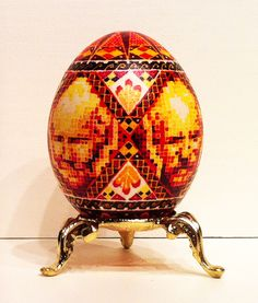 """Predky, Tato (from the Bloodlines Exhibition), 2013, dye on egg, 2.5"""" x 1.5"""" x 1.5"""" #figurative #art #painting"""