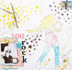Maria Schmidt Scrap-Art-Design Art Zine, Workshop, Schmidt, Layouts, Stencils, Blog, Snoopy, Scrapbooking, Candy