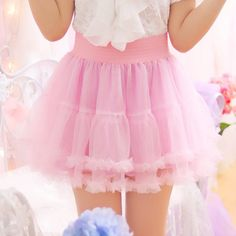 Sweet Princess Lace Tutu Skirt – Little Space Wishlist - Trend Harajuku Mode, Harajuku Fashion, Kawaii Fashion, Lolita Fashion, Cute Fashion, Asian Fashion, Kawaii Dress, Kawaii Clothes, Cute Skirts