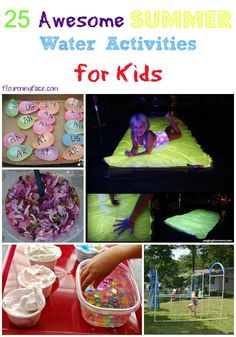 25 Awesome Summer Water Activities for kids. This collection of fun activities is great for Summer vacation ideas, staycation ideas, and more! via flouronmyface.com