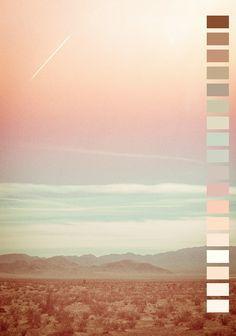 #Farbbberatung #Stilberatung #Farbenreich mit www.farben-reich.com landscape pink colors nature Peach mint color palette seafoam soft white